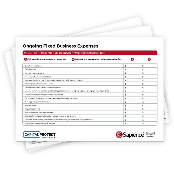 Sapience cient Fixed Busienss Expenses form