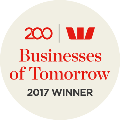 Proud Winners Businesses of Tomorrow Awards