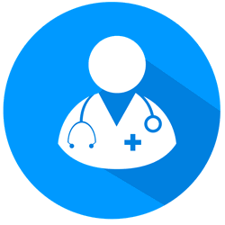 medical professional health and income protection icon